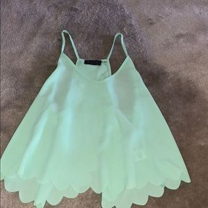 Bright green tank with cute back